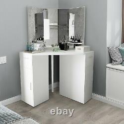Vanity Set De Rangement Table De Maquillage De Cabinet Table De Dressing Avec Tiroir