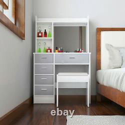 Vanity Set Maquillage Table De Habillage Vanity Avec Rack De Rangement De Rangement