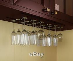 Verres À Pied Verre À Vin Rack Cabinet Bouteille Holder Cuisine Home Bar Hanger 18 Set Pc