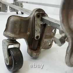 Vintage Craftsman Radial Saw Armoire À Outils Caster Roues Ensemble, Réparation De Pièces