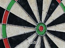 Vintage Dart Board Boisé Conseils En Acier W. Cabinet Dart Set