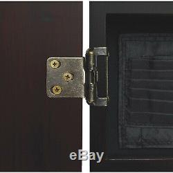 Viper Metropolitan Steel Tip Dartboard Cabinet Set Fini Acajou