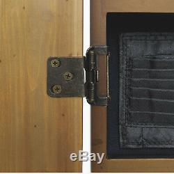 Viper Metropolitan Steel Tip Dartboard Cabinet Set Fini Chêne