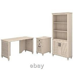 Volcano Dusk 51w Desk With Bookcase And 3 Drawer File Cabinet Driftwood Dreams