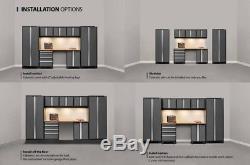 Warehouse Steel Cabinet Set Mobilier De Rangement Pour Garage Automobile, 8 Pièces, Rouge